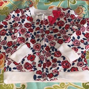 2T/3T Gymboree zip up cardy with BOW 🎀